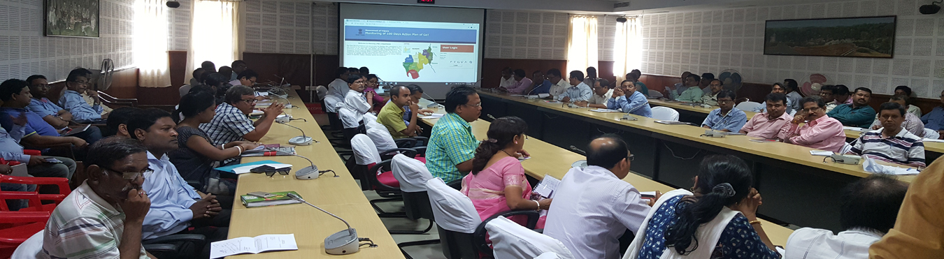 Demonstration of 100 Days Action Plan Monitoring System at State Secretariat Conference Hall-II on 25th April, 2018